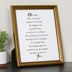 Calligraphy Our Father Framed Print