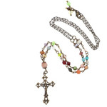 Cathedral Window Crucifix Necklace