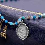 Saint Teresa of Calcutta Agate Necklace