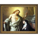 St. Margaret Mary Alacoque w/ Gold Frame