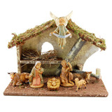 Italian Nativity with Stable - 7 pieces