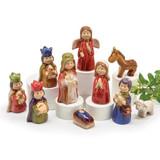 Children's Colorful Porcelain Nativity Set - 10 Pieces