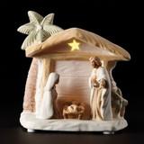 Porcelain Bisque LED Nativity Scene & Night Light