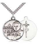 Sterling Silver Pope John Paul II Pendant / Vatican