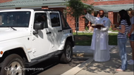 Video: What It's Like to Have a Priest Bless Your Car