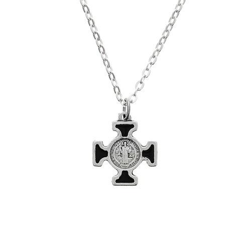Black St. Benedict Cross on Chain