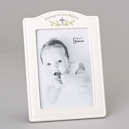 Baptism Blessings Arched Picture Frame