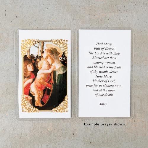 Botticelli Madonna Personalized Prayer Cards