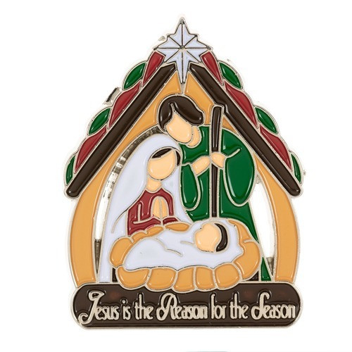Jesus is the Reason Nativity Epoxy Lapel Pin