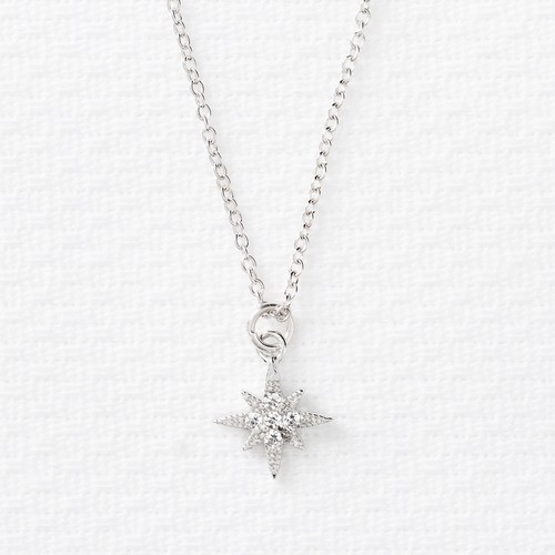 """""""Be The Light"""" Star Pendant Necklace - Silver"""