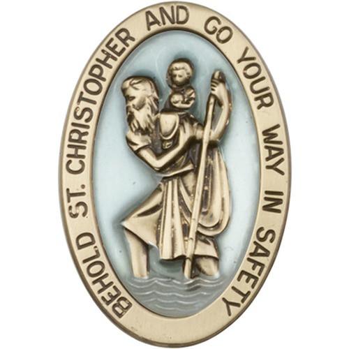 Antique Gold St. Christopher Visor Clip - 2500341