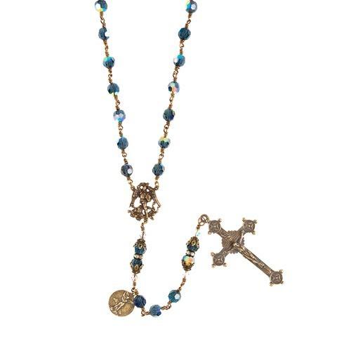 St. Michael Swarovski Crystal Handcrafted Rosary