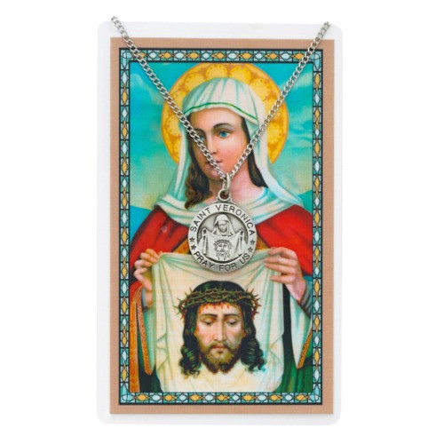 St. Veronica Necklace with Prayer Card