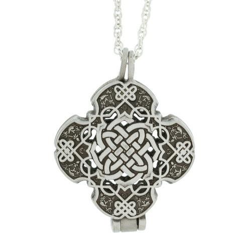 Celtic Cross Prayer Locket