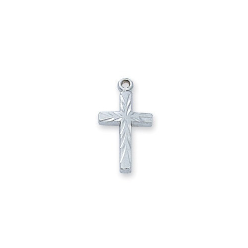 Sterling Cross On Baby Chain