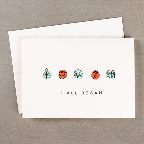 It All Began With A Family Christmas Cards - Set of 20