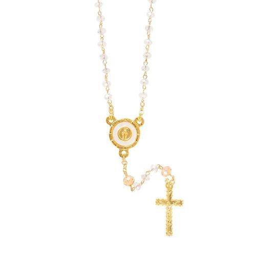 Petite Crystal & Topaz Bead Miraculous Rosary