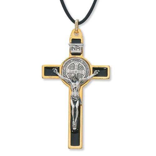 Gold St. Benedict Crucifix - 3 Inch