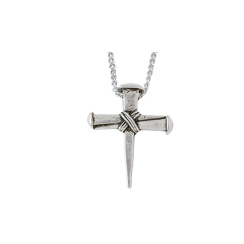Wrapped Cross Pendant Necklace