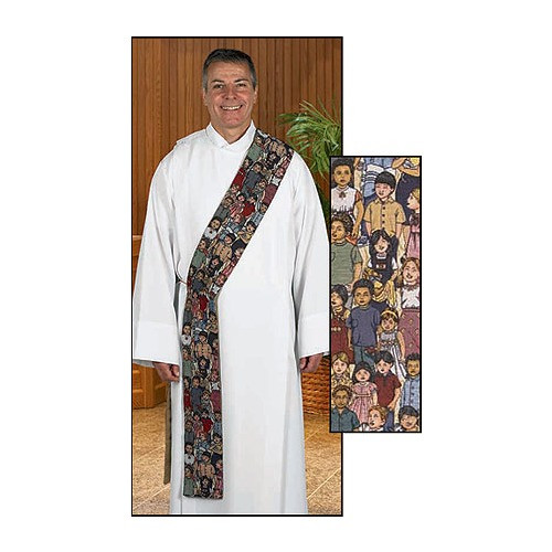 Children of the World Tapestry Stole - Deacon Style