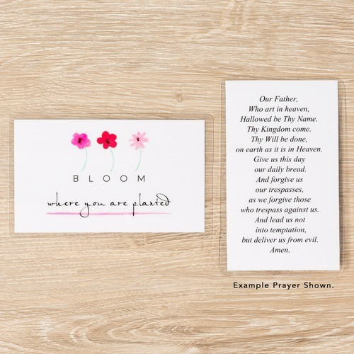 Bloom Personalized Prayer Card