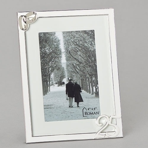 25th Wedding Anniversary Photo Frame