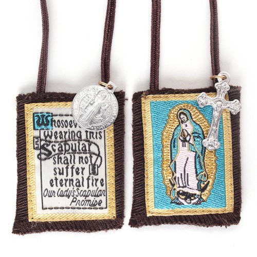 Our Lady of Guadalupe Scapular with short cord