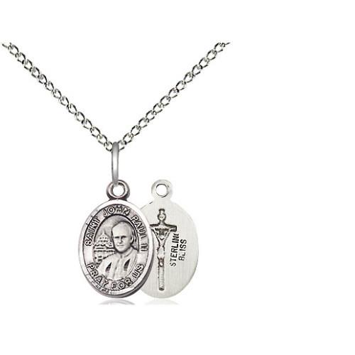 Sterling Silver Pope John Paul II Petite Pendant