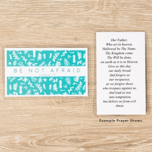 Be Not Afraid Personalized Prayer Card