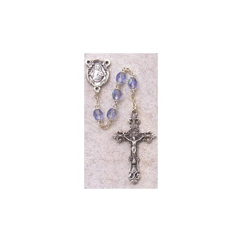 Birthstone Rosary - September Personalizable