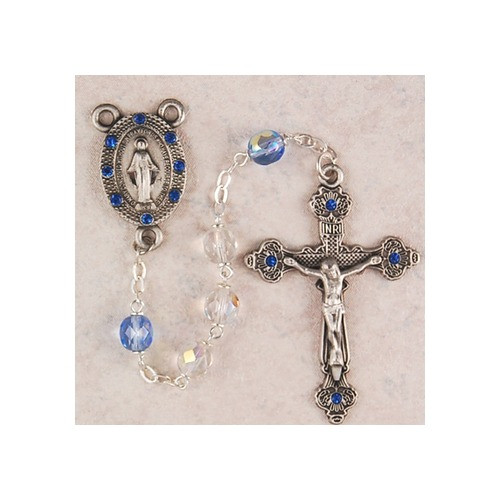 Blue-Crystal Rosary with Blue Stones