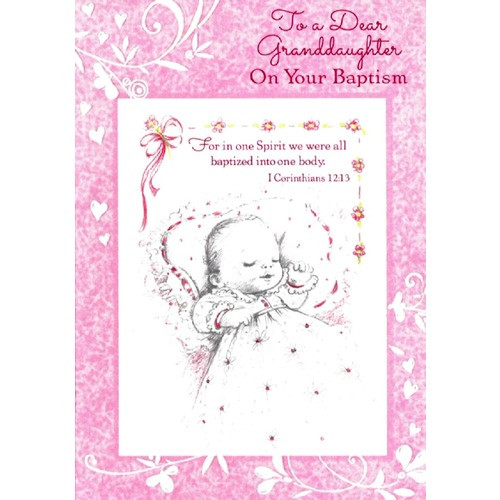 Baptism Greeting Card - Granddaughter