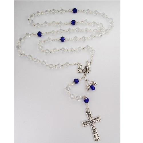 Blue & Crystal Holy Family Rosary