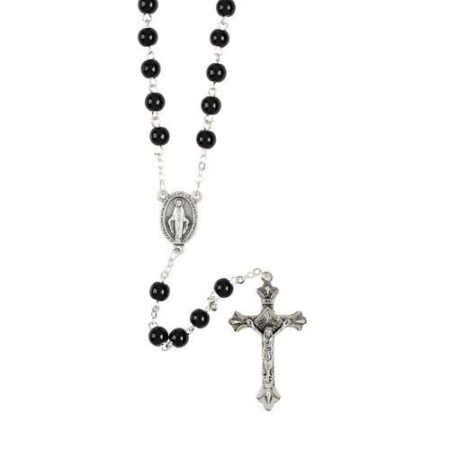 7mm Black Rosary