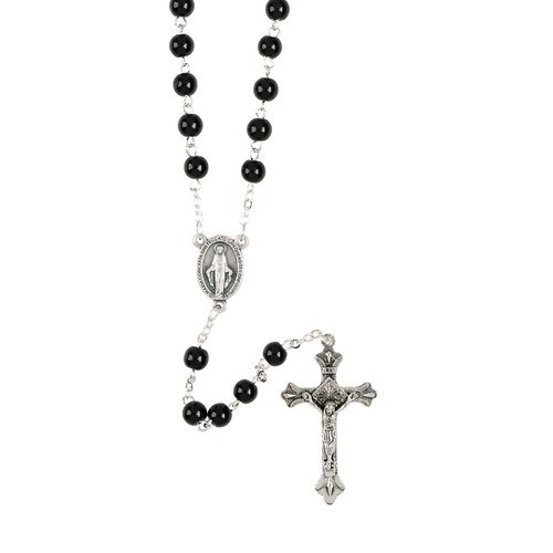 7mm Black Rosary