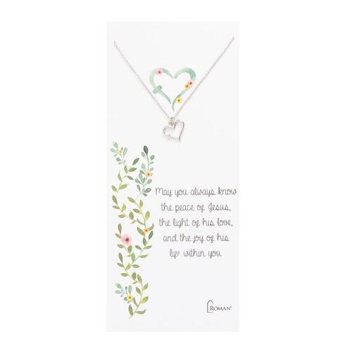 Children's Cross Heart Necklace
