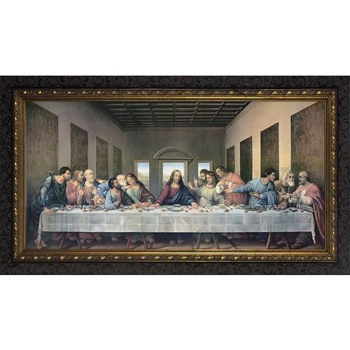 Last Supper Redone w/ Dark Ornate Frame