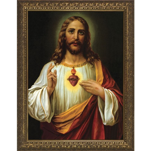 Italian Sacred Heart w/ Gold Frame