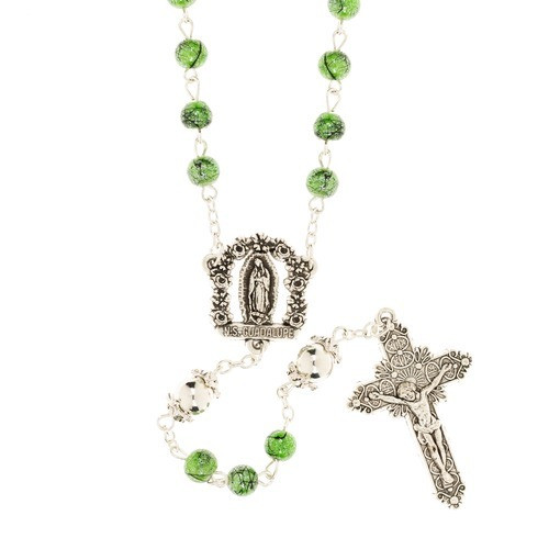 Green Guadalupe Rosary