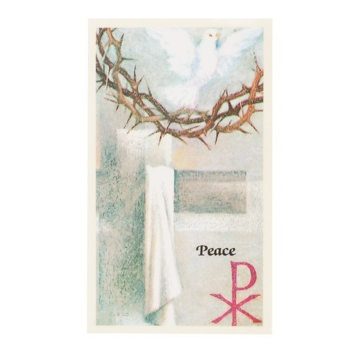 Crown of Thorns/Holy Spirit/Peace Laminated Holy Card