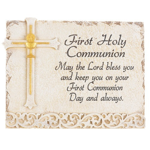 First Communion Chalice Wall Plaque with Prayer