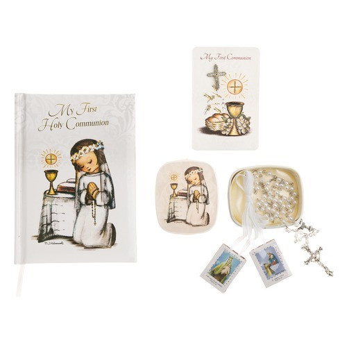 Girl's First Communion Hummel Artwork Gift Set