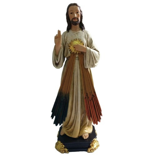 Divine Mercy Heart of Gold Statue
