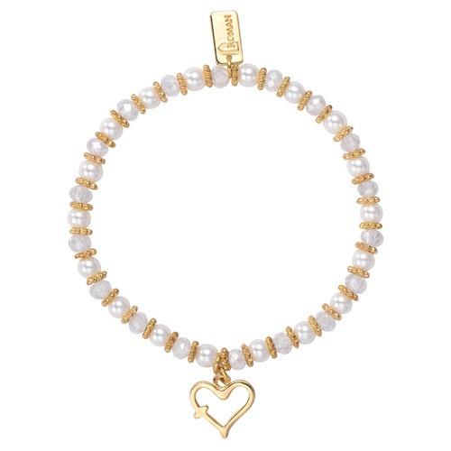 Children's Gold Heart With Cross Bracelet