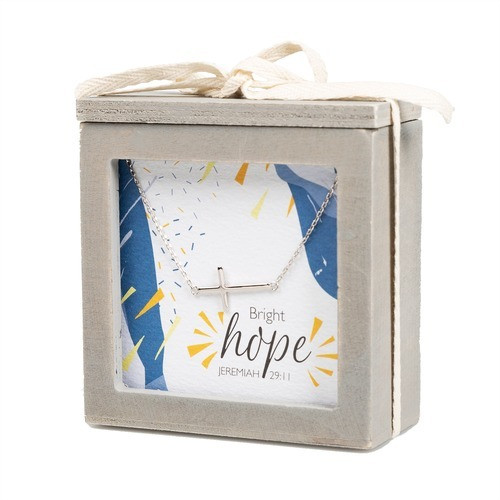 Cross Necklace & Hope Jewelry Promise Box