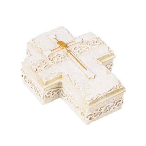 Chalice & Cross First Communion Rosary Keepsake Box