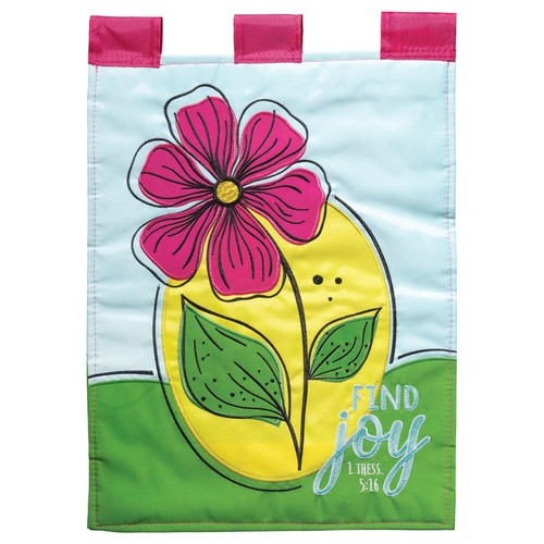 Find Joy Garden Flag