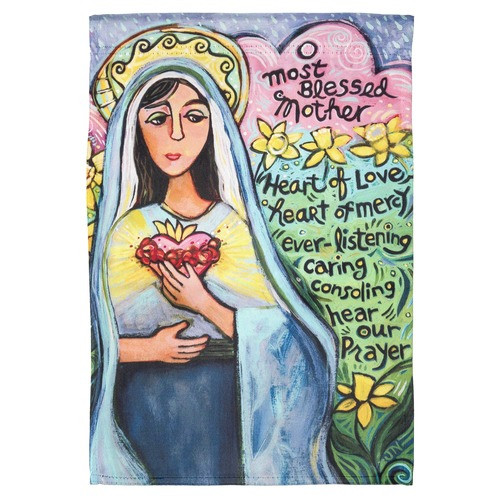 Most Blessed Mother Garden Flag