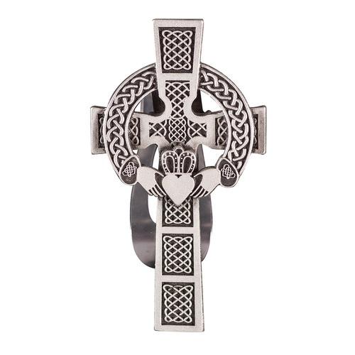 Claddagh Cross Visor Clip