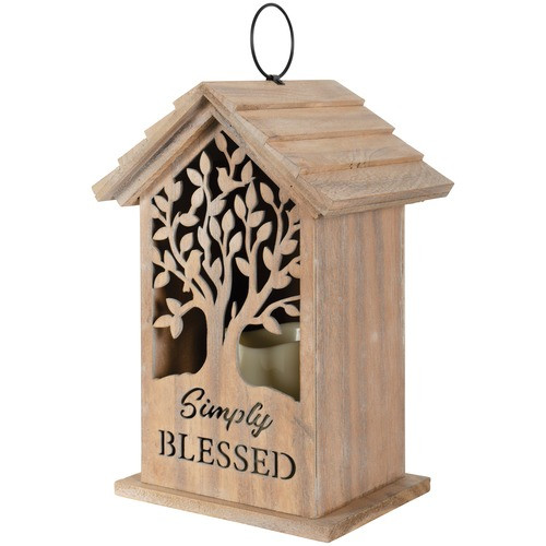 Simply Blessed LED Candle Lantern
